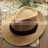Wholesale Korean design Summer shading mexico straw sombrero hat wholesale straw cowboy hats sombrero straw hat