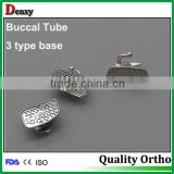 Promotional high quality dental orthodontic standard convertible and Non-convertible buccal tubes / bondable buccal tube