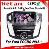 Wecaro WC-FF8088 Android 4.4.4 car dvd player 1024*600 for ford focus media player 2015 TV tuner