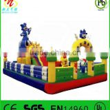 Bounce inflatable fun city bluecat theme inflatable fun factory,inflatable amusement park
