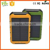 Dual usb portable solar power banks 10000mah for travel