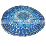 cotton round beach towel hippie mandala tapestry wall hanging ethnic indian table cloth round yoga mat