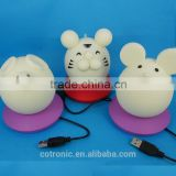 The Silicone Mouse Portable LED Night Light with music player