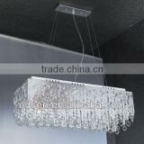 Modern crystal led pendant hanging bluetooth lighting chandeliers
