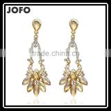 2016 New Vintage Style Dangling Chandelier Red Crystal Earrings Fashion Instyle