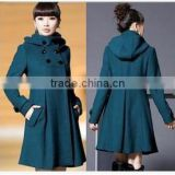 2014 Women's New Cotton-padded Slim MD-LONG Loose Coats Overcoats Parka                                                                         Quality Choice