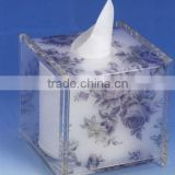 flower surface acrylic tissue box