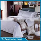 Cotton fabric satin bedding set wholesale hotel bed linen / bed sheet / duvet cover sets