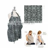 hot wholesale 100% organic cotton nursing cover with 100 different print