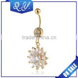 Luxury Jewelry Gold Flower Shaped Belly Button Rings China Wholesale