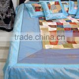100% silk patchwork embroidered Bedding Set