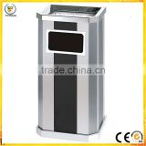 stainless steel waste bin lobby garbage bin hotel side open trash bin                                                                                                         Supplier's Choice