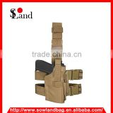 Military tactical style leg pistol gun holster
