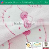 Cartoon coral fleece fabric lovely hello kitty flannel fabric for bedding fabric made in suzhou