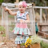 baby girl summer fashion 2pcs ruffle dress and pant boutique remakes little girl outfits