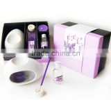 popular home decor incense set including oil burner ,candle warmer ,scented candle and incense stickers