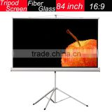Foldable 84''16:9 Outdoo r4k*2k Portable Tripod Projection Screen