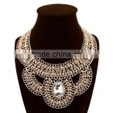 Trendy Fashion Latest Design Handmade Bead Chains Braided Women Chunky Statement necklaces