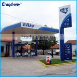 Stainless Steel Acrylic LED Oil Gas Station Sign Full Color Outdoor Displays Gas Station Signs