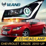 Fast Delivery HID projector headlight with new type brighter light bar for Chevrolet cruze angel eye headlight                                                                         Quality Choice