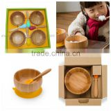 Baby bamboo bowl with Silicone sucker set                                                                                                         Supplier's Choice