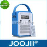 Bluetooth speaker with PU leather cover, USB, FM radio, SD card, AUX , LCD display, clock/alarm/calendar and remote contro