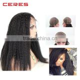 Wholesale price hair extensions,lace frontal hair pieces,kinky twist human hair full lace wig