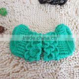 Eco-friendly hand made girl and boy Crochet Mint Baby Booties