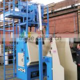Endless conveyor belt sandblasting equipment