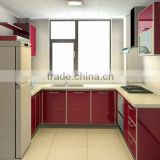 Acrylic,PVC Membrane,Solid Wood Door Panel Surface Treatment and Modern,flat Style used kitchen