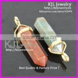 KJL-A0192 Natural Red And Green Quartz Druzy stone Charm Crystal Healing Point Chakra Reiki Jewelry Agate Stone Pendant Bead