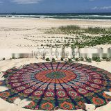"72"" Indian Tapestry Round Wholesaler Mandala Tapestry Boho Mandala Roundie Roundie Towel Table Cloth Beach Throw Roundie Mandala"
