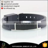 hot sale fashion black carbon fiber rubber energy bracelet black men's silicon bracelet with metal buckle adjustable