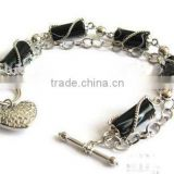 Alloy chain rhinestone bracelet,Black rhinestone bangel,Jewelry for women