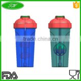 Water Bottles Drinkware Type and PP Plastic Type blank protein shaker bottle