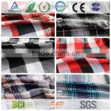woven yarn dyed check plaid gingham twill wholesale cheap viscose fabric textile china suppiler