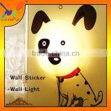 Bedroom New Fancy bedside light for kids,New design Lovely Spotty Dog wall sticker lamp
