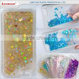 beautiful moving glitter mobile phone back cover case for iphone 5 5s 7 6 se
