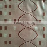 Crossed Wave-like Line Checked Design Fleece Base with Blackout Jacquard for new styles of curtains