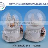 Competitive price XMAS polyresin hanging christmas tree snow globe manufacturers in china