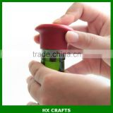 New Design BPA Free Wine Bottle Stopper Silicone Bar Tools Preservation Wine Bottle Sealers for Red Wine and Beer Bottle Cap