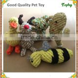 Factory Supply Environmental Quality Approved Cute Pet Dog Braided Twisted Cotton Rope Chew Double Knots Toy