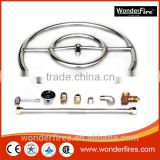 "6"" 12"" 18"" 24"" 30"" 36"" Stainless Steel Fire Pit Burner Ring KIT Natural gas"