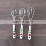 Egg Whisk DIY Hand Tools with Rose Handle Traycake Decorating Tool New Arrival Stainless Steel Egg Beaters