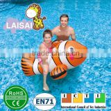 Cheap factory price new design inflatable giant fish float for kids