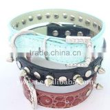 leather pet collar/ dog collar