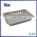 Square Disposable Aluminum Foil Pans Aluminium Foil Food Contatiner Trays Aluminum Foil Plates for fast food