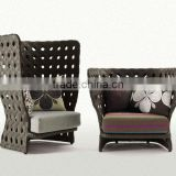 HuSen patio outdoor living room leisure hollow out PE rattan/wicker sofa chair furniture set