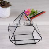 Hanging Clear Glass Prism Air Plant Terrarium / Tabletop Succulent Plants Holder Home Decor Flower Pots