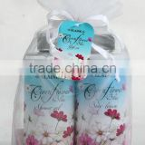 2 PCS BATH SET W/COGAN YARN BAG